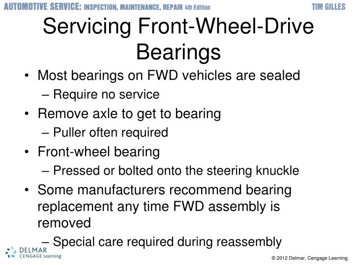 Servicing Front-Wheel-Drive Bearings