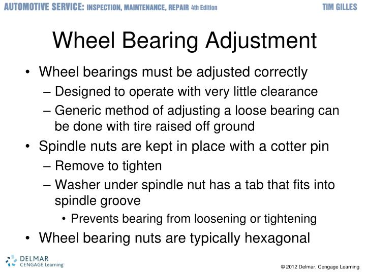 Wheel Bearing Adjustment