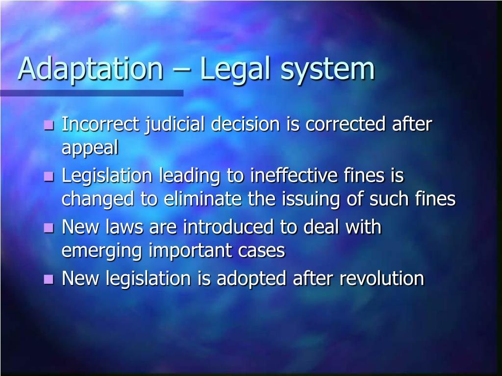 Adaptation – Legal system