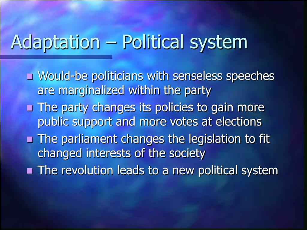 Adaptation – Political system