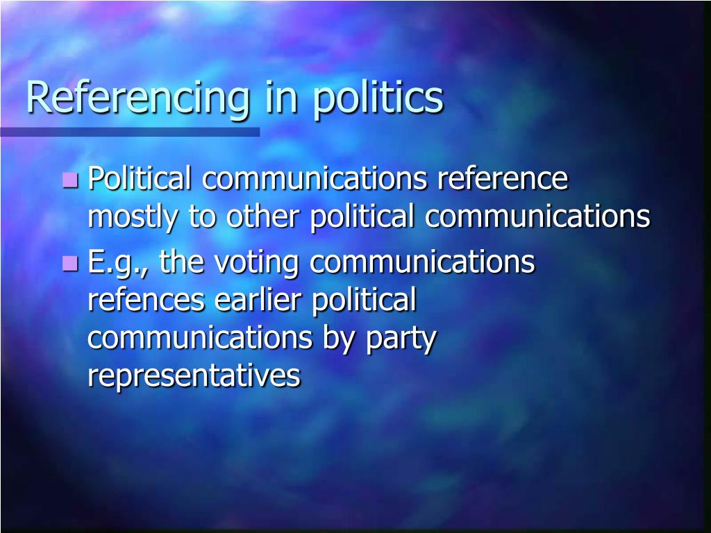 Referencing in politics