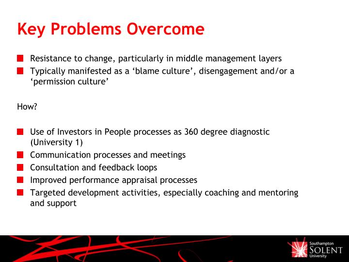Key Problems Overcome