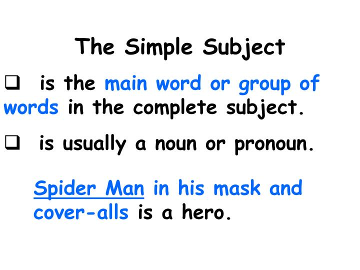 The Simple Subject