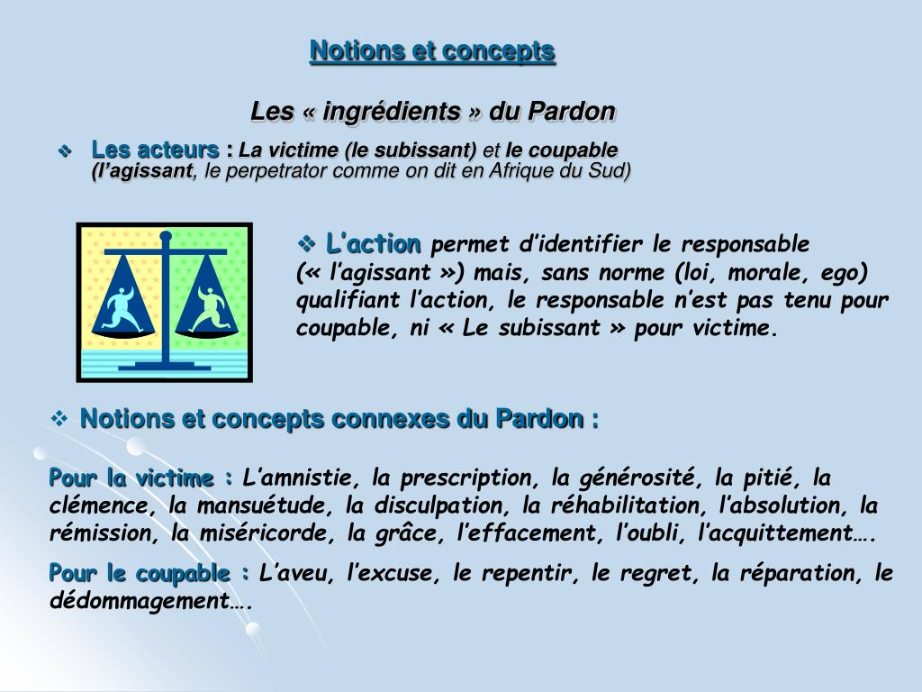 Notions et concepts