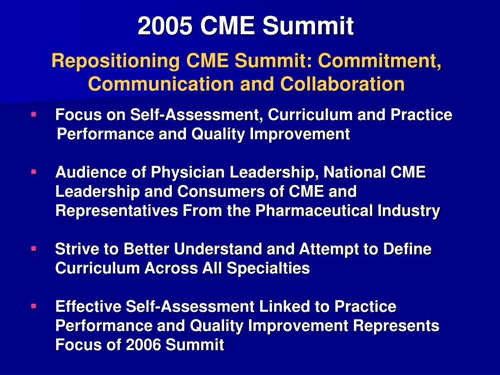 2005 CME Summit