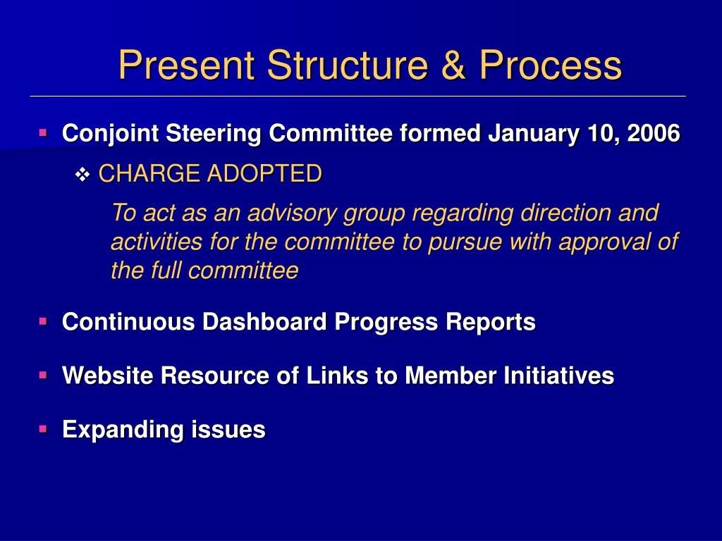 Present Structure & Process