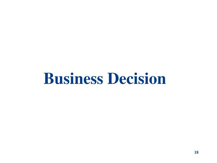 Business Decision