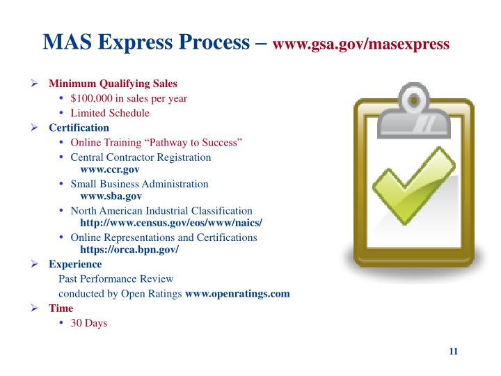 MAS Express Process –