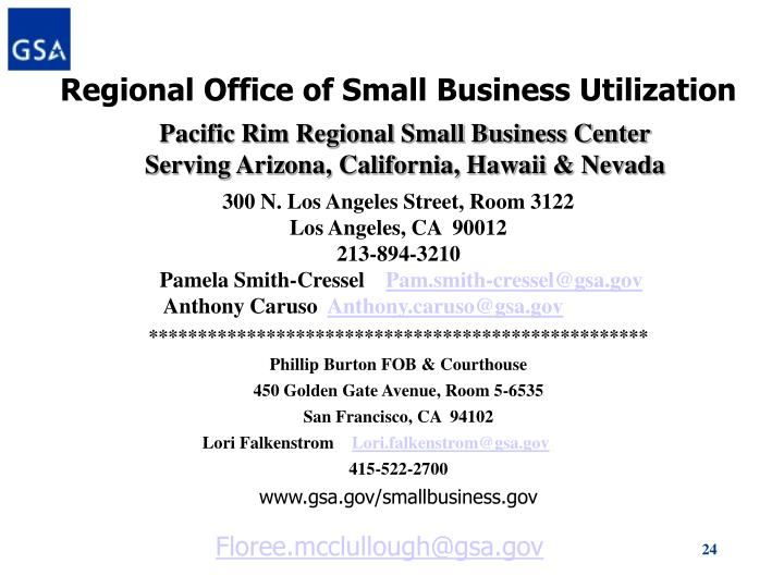 Regional Office of Small Business Utilization