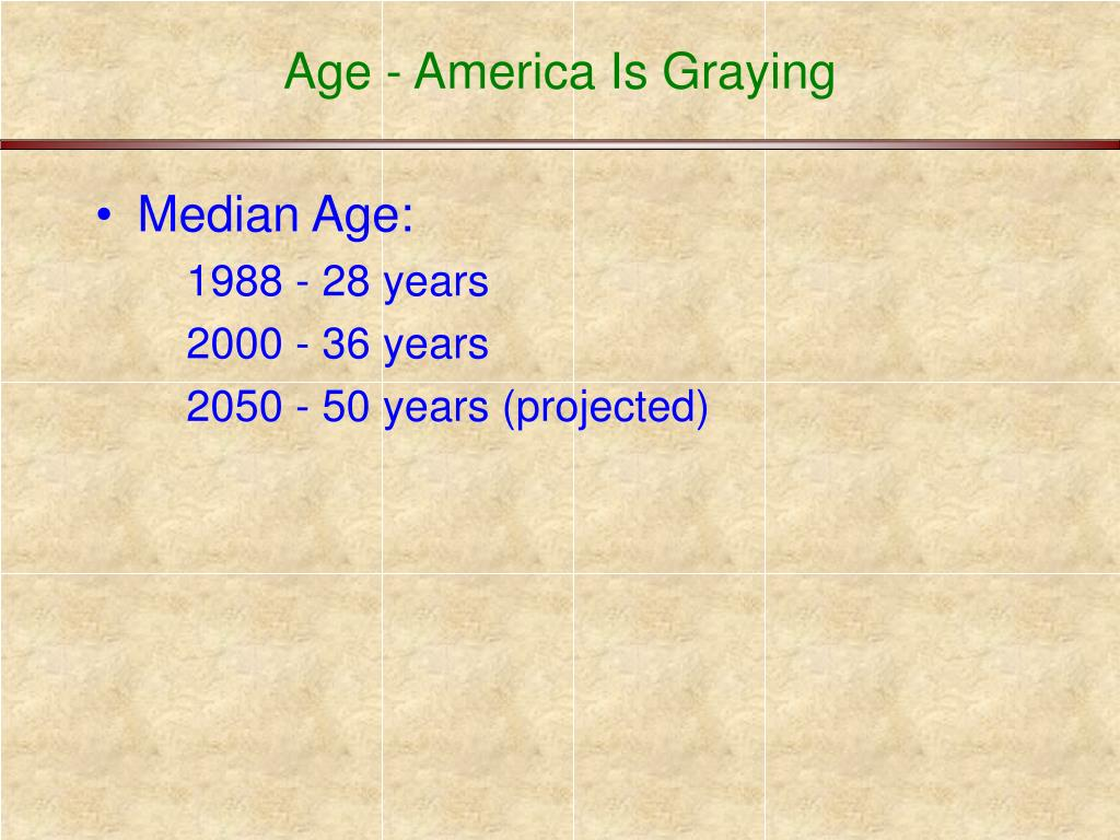Age - America Is Graying