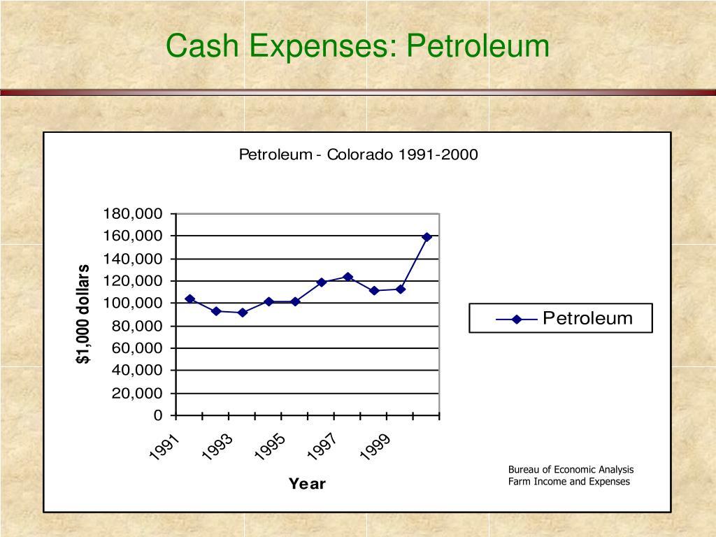 Cash Expenses: Petroleum
