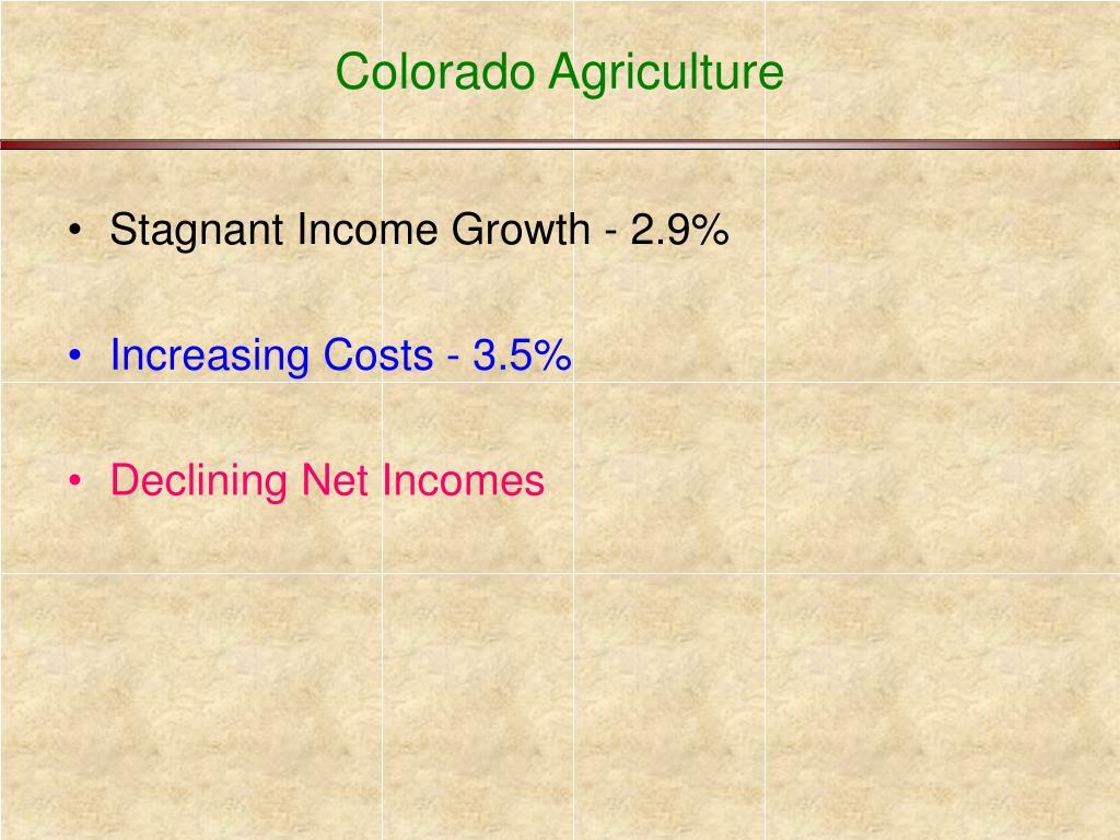 Colorado Agriculture