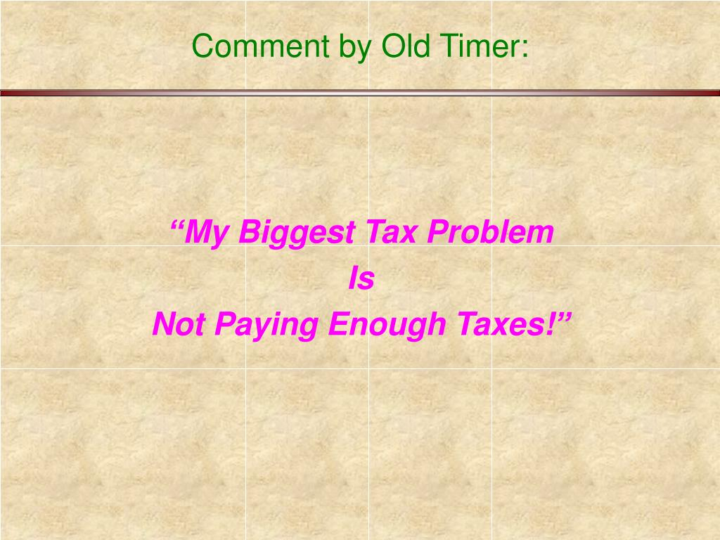 Comment by Old Timer: