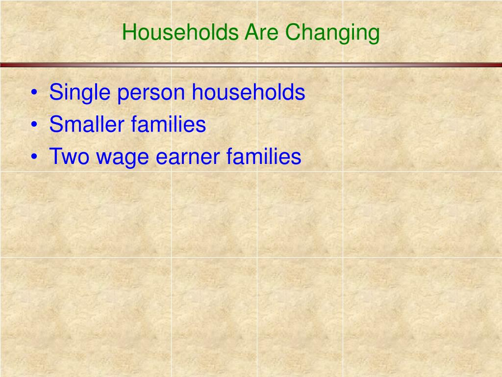 Households Are Changing