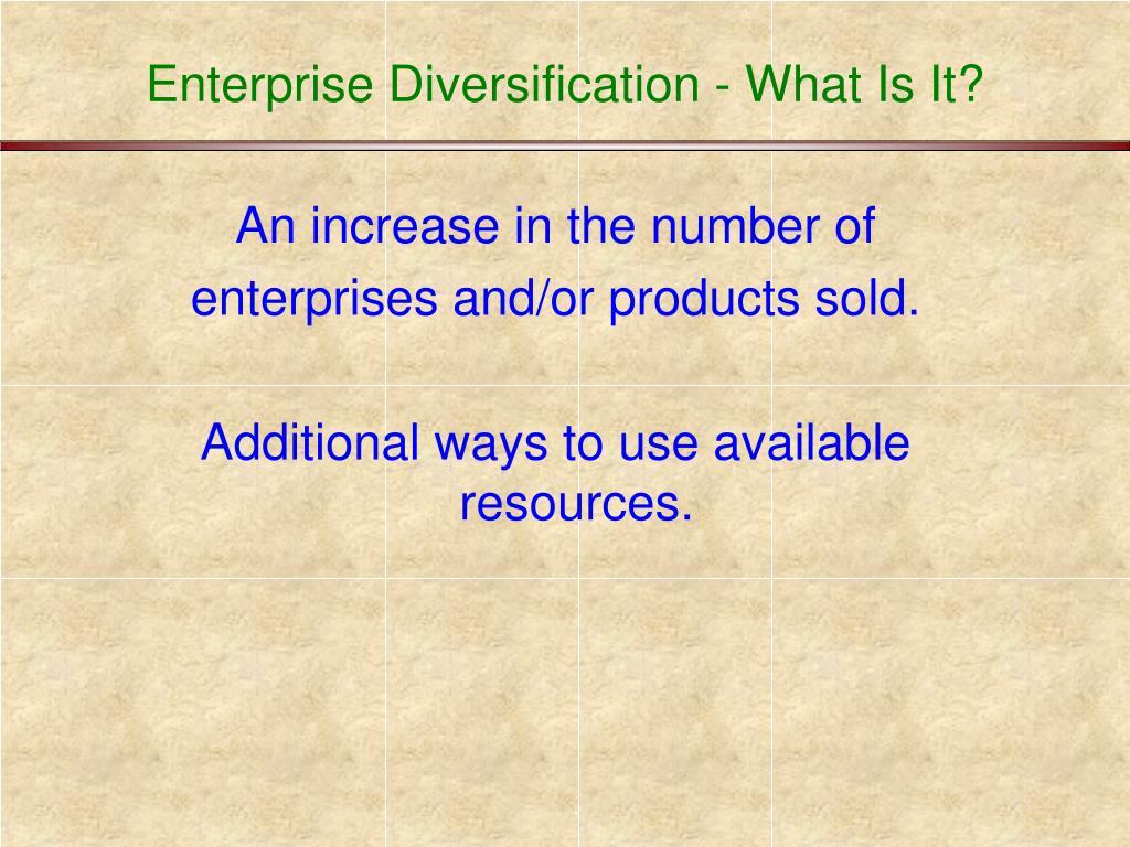 Enterprise Diversification - What Is It?