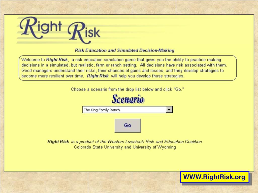 WWW.RightRisk.org