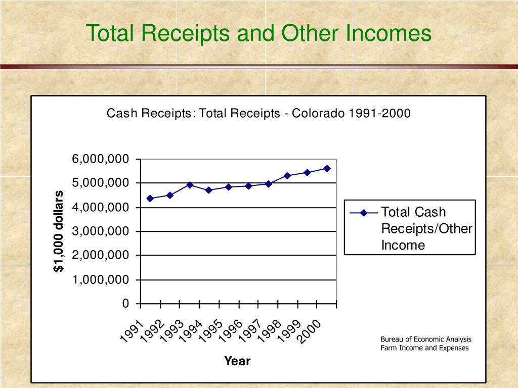 Total Receipts and Other Incomes