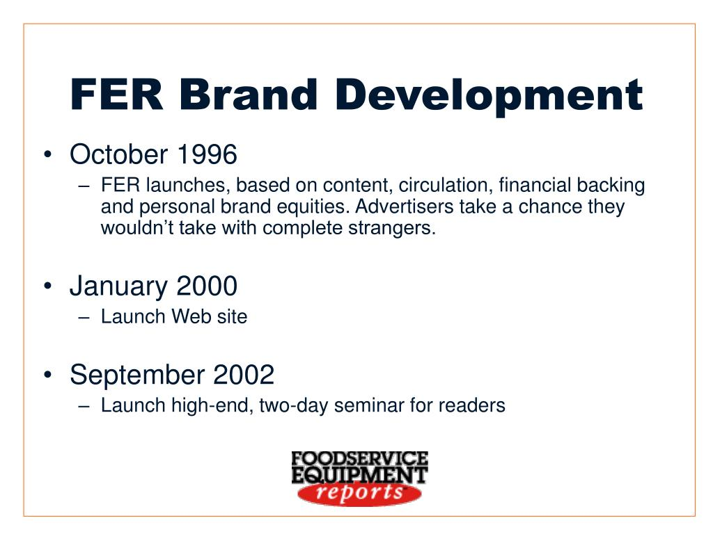 FER Brand Development