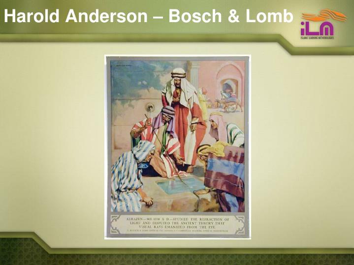 Harold Anderson – Bosch & Lomb
