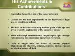 his achievements contributions10