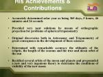 his achievements contributions13