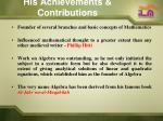his achievements contributions3