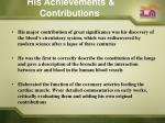 his achievements contributions6