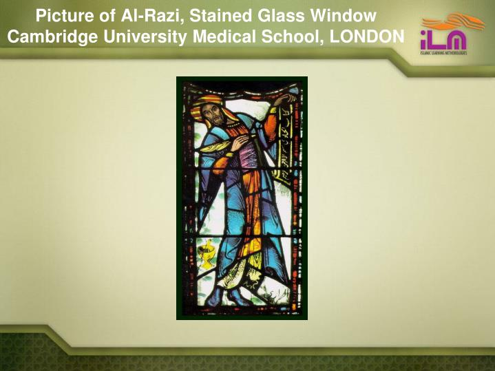 Picture of Al-Razi, Stained Glass Window