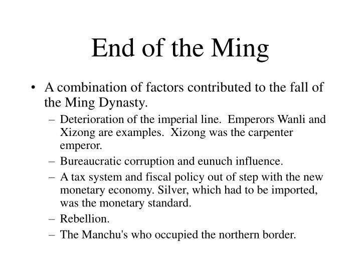 End of the Ming
