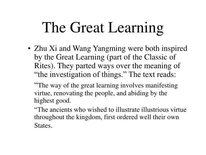 The Great Learning