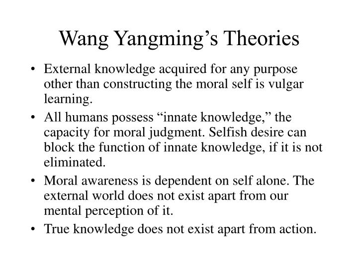 Wang Yangming's Theories