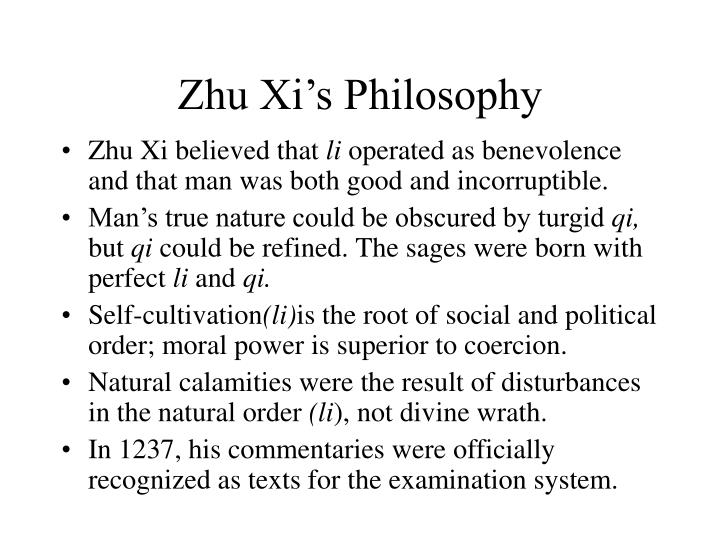 Zhu Xi's Philosophy