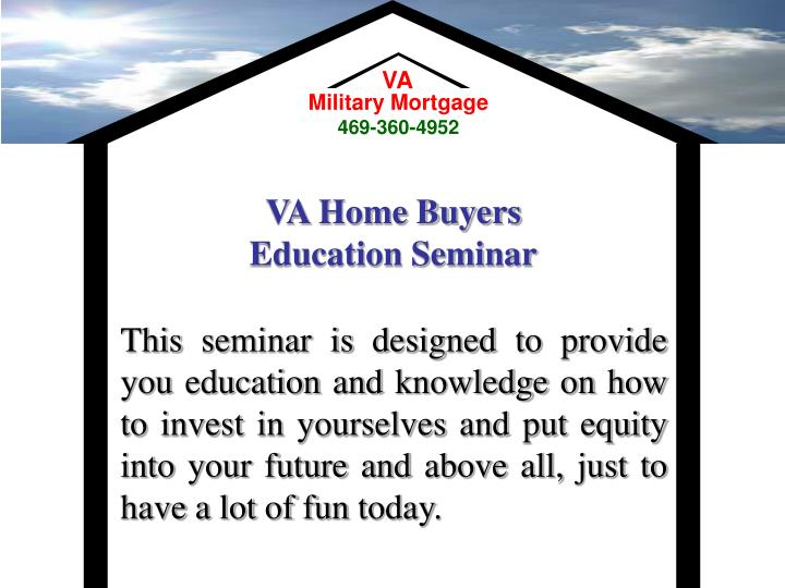 Va home buyers education seminar