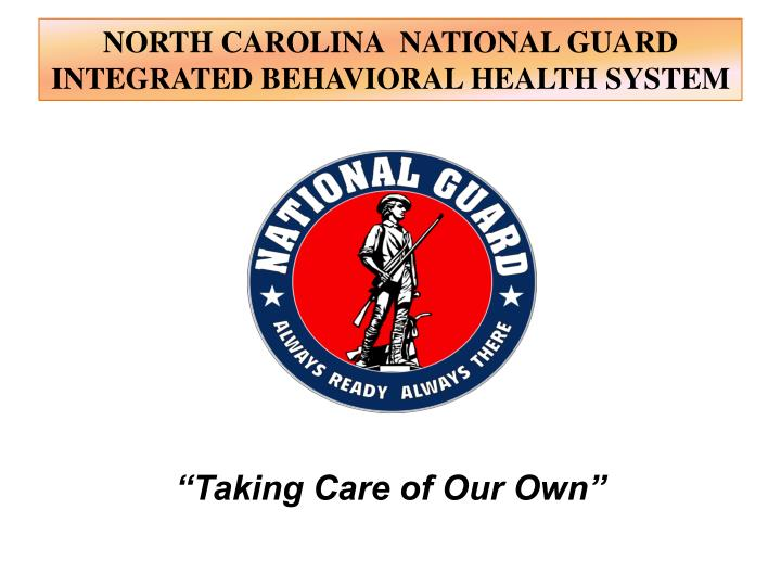 north carolina national guard integrated behavioral health system