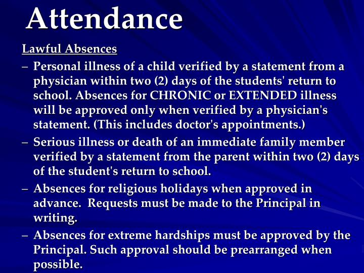 Lawful Absences