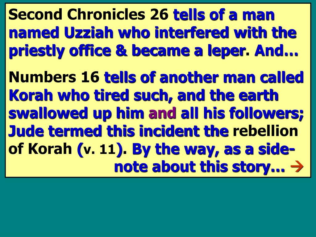 Second Chronicles 26