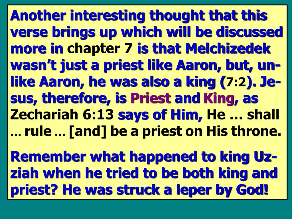 Another interesting thought that this verse brings up which will be discussed more in