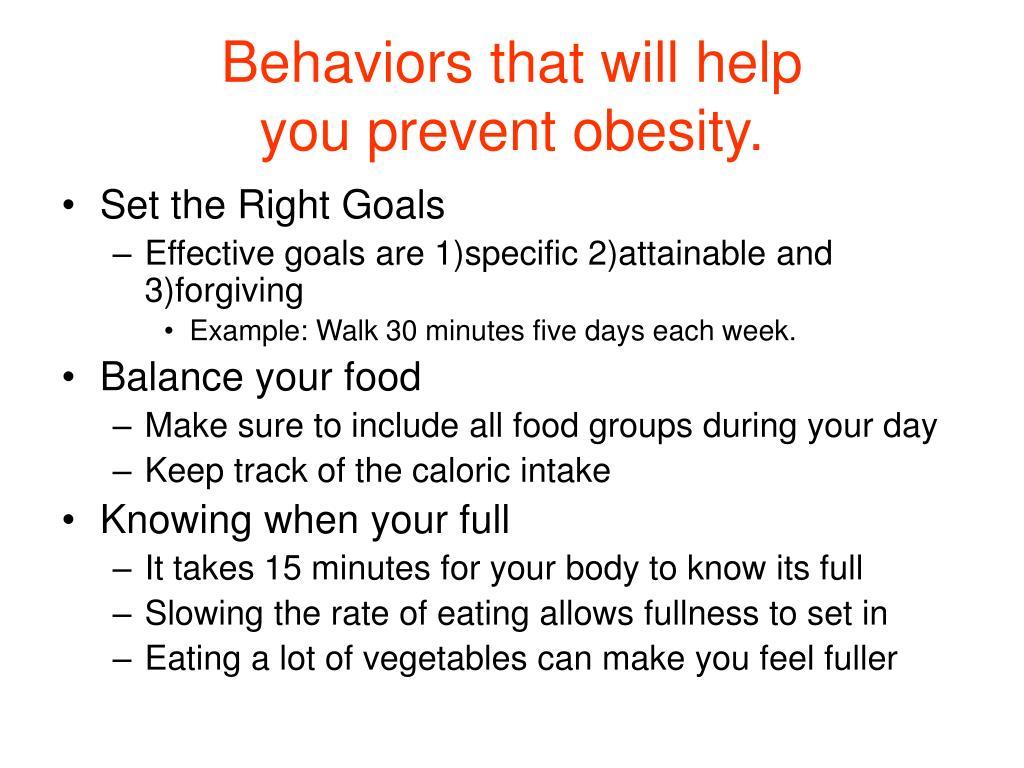 Behaviors that will help