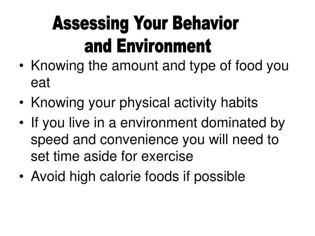 Assessing Your Behavior