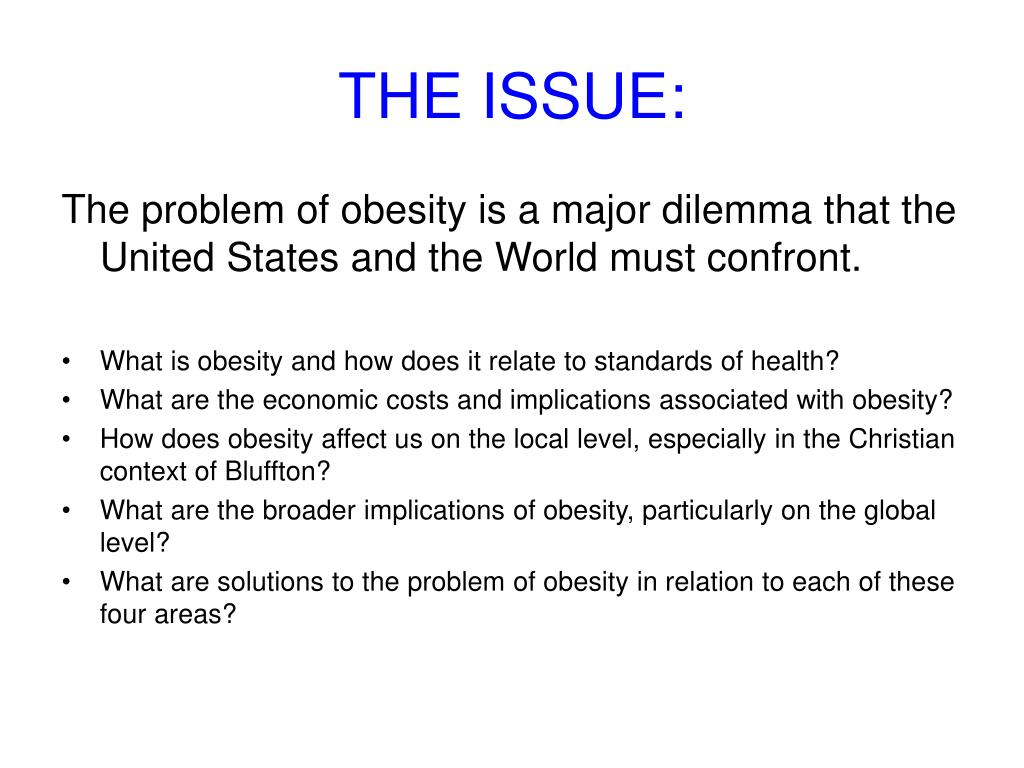THE ISSUE: