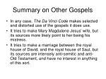 summary on other gospels2