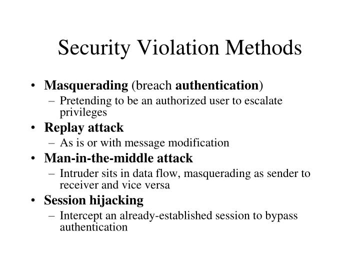Security Violation Methods