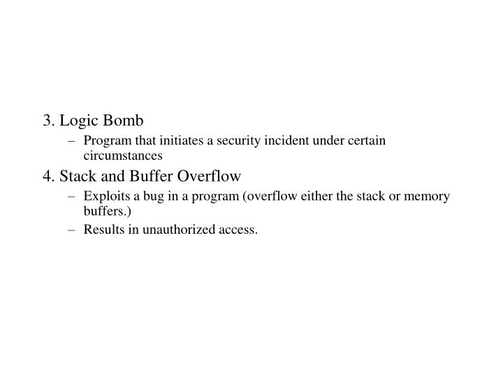 3. Logic Bomb