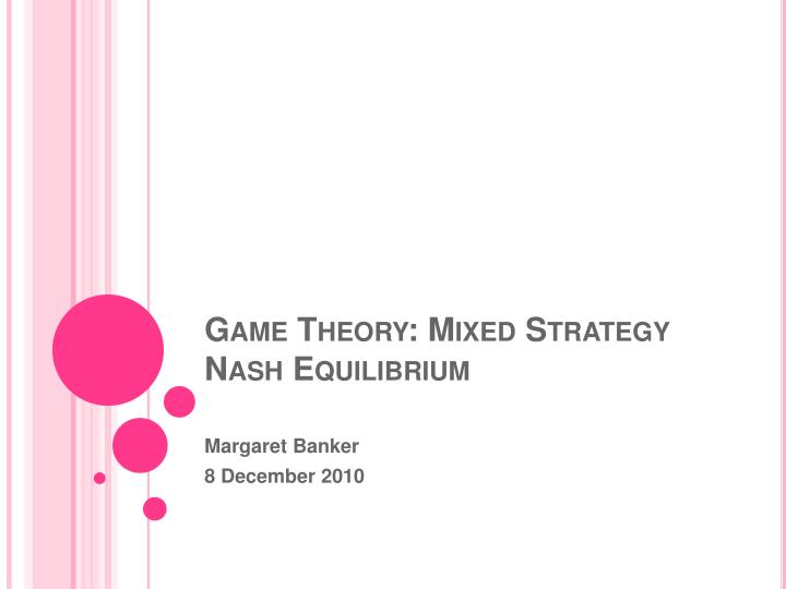 how to find the nash equilibrium in game theory