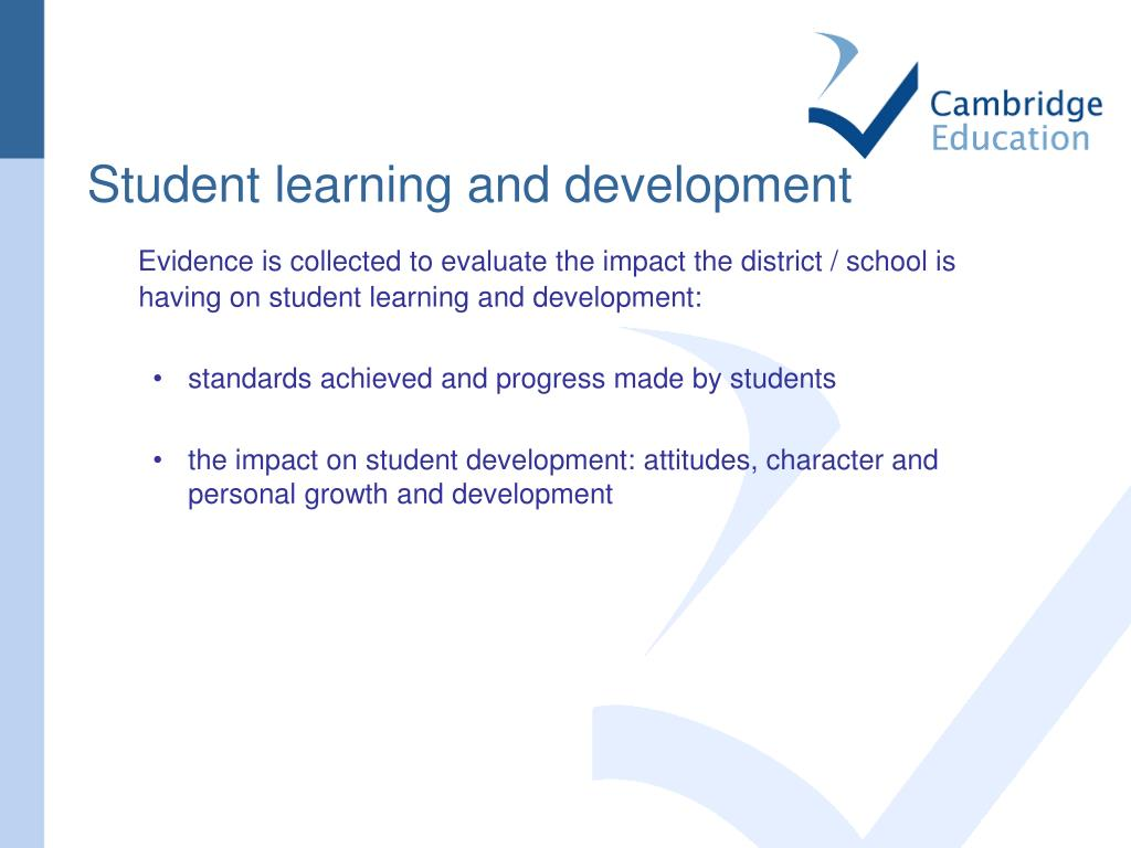 Student learning and development