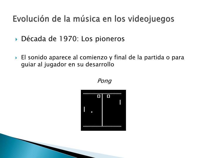 Evolución de la música en los videojuegos