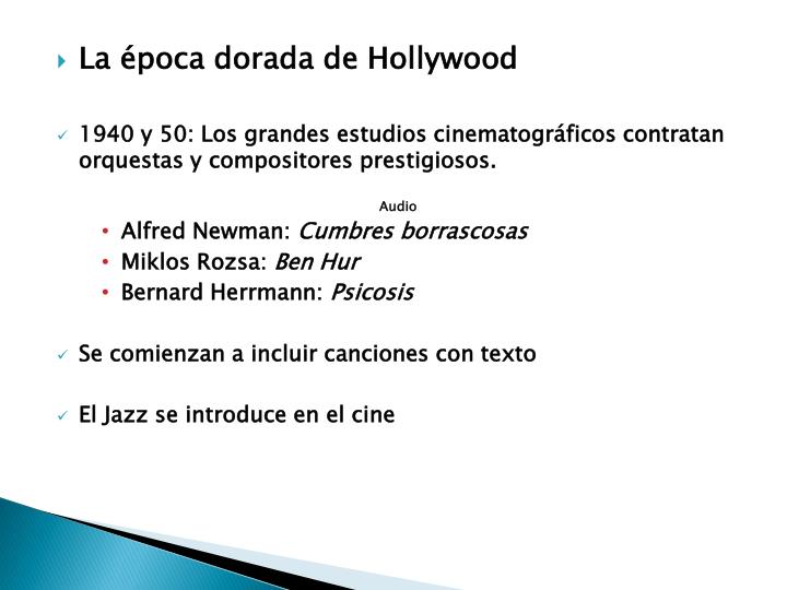 La época dorada de Hollywood