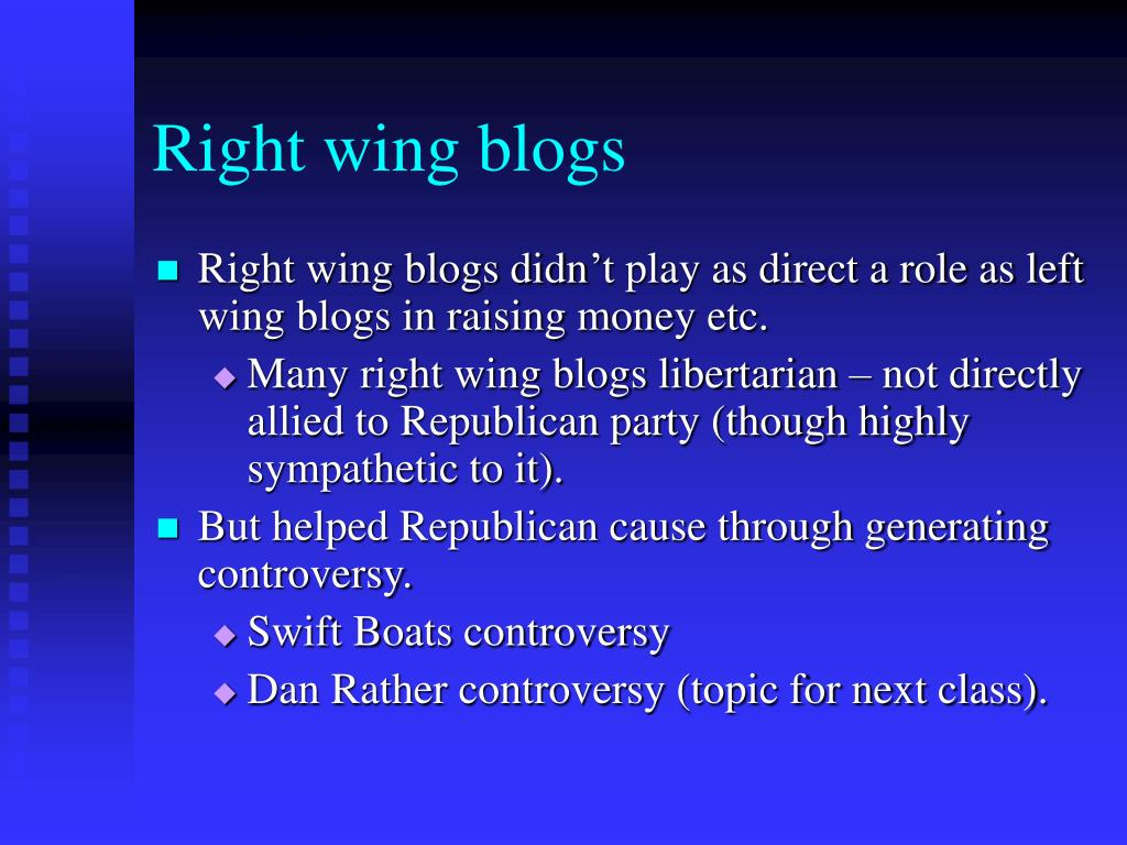 Right wing blogs