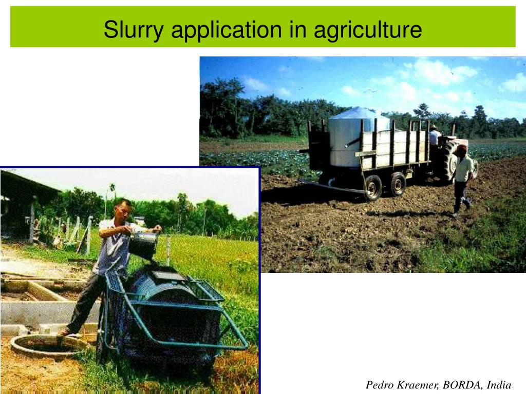 Slurry application in agriculture