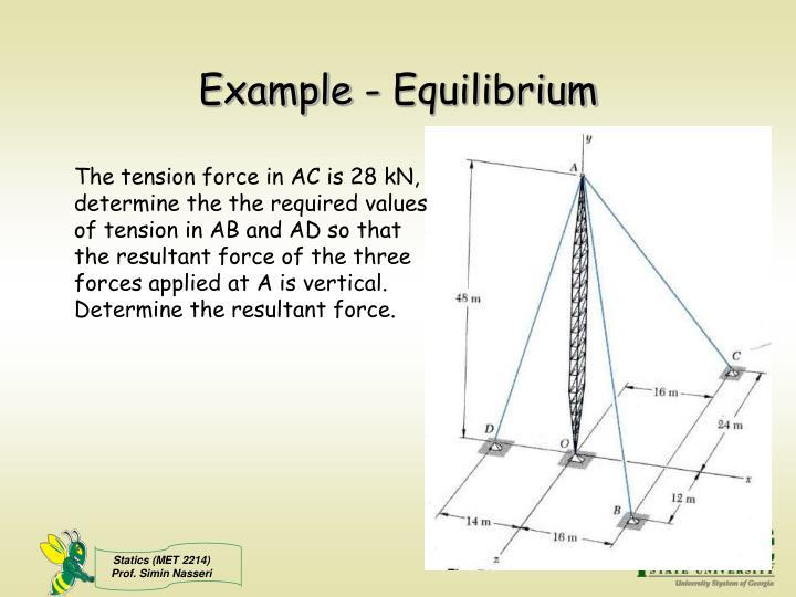 Example - Equilibrium